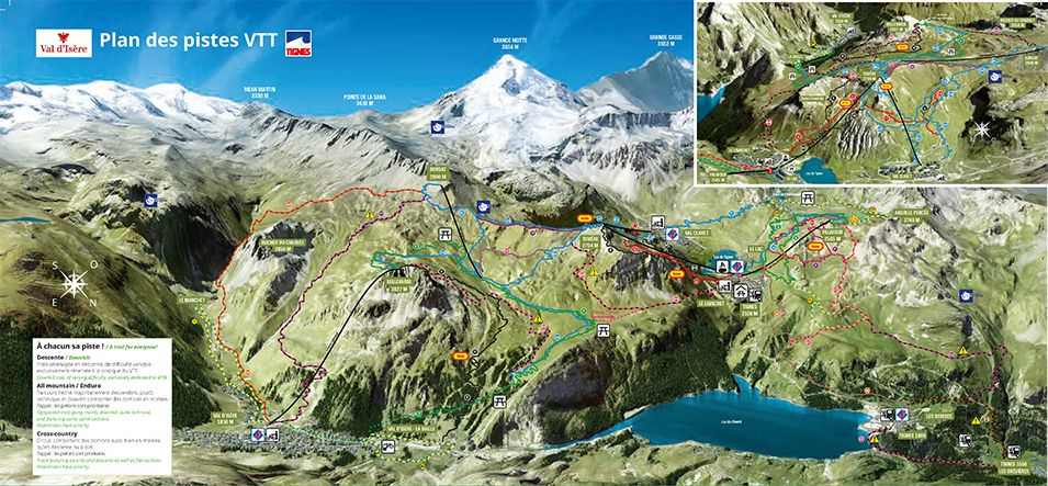 Plan Bike Park Tignes